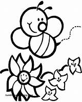 Bee Coloring Bumble Pages Cute Bees Printable Sheet Getcolorings Print sketch template