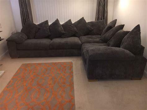 Large Corner Settee by Large Grey Sofa Large Grey Fabric Corner Sofa Sofas Direct