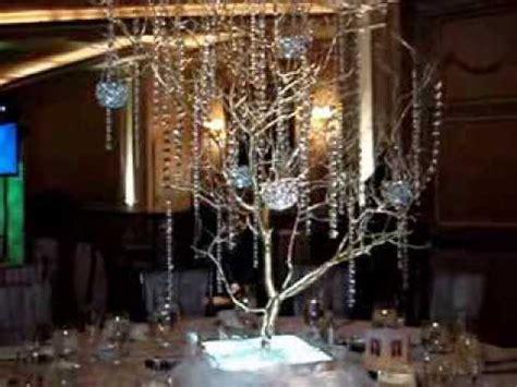 manzanita branch crystal tree centerpiece rentals  gold