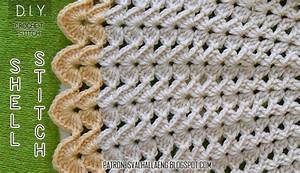 How To Crochet The Shell Stitch  Chart