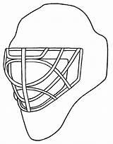 Hockey Helmet Coloring Mask Goalie Drawing Template Drawings Sketch Netart Getdrawings Templates Paintingvalley sketch template