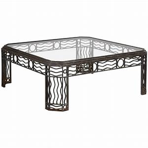 decorative wrought iron and glass coffee table 1970s at With decorative glass coffee tables