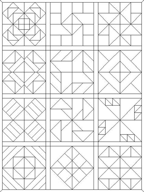 coloring pages quilt blocks   faves pinte