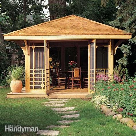 Backyard Structure Ideas by Screen House Plans The Family Handyman