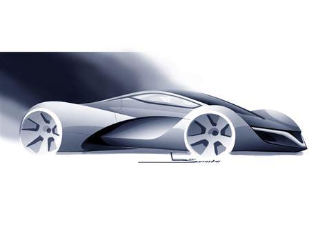 design automobile mazda furai concept 2008 supercar sketches