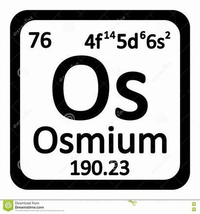 Osmium Periodic Element Icon Atom