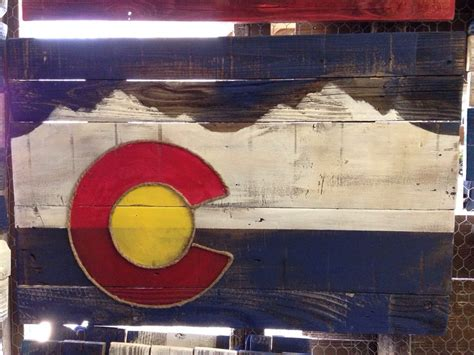 local reclaimed wooden colorado flag touch