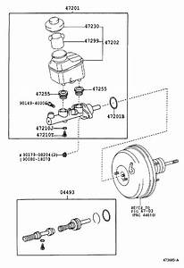 2004 Toyota Camry Brake Master Cylinder Repair Kit  Piston