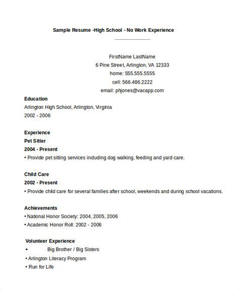 11214 high school student resume exles no work experience 11 high school student resume templates pdf doc free