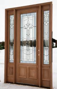 Wood Front Door With Door by How To Choose A Front Door With Sidelights Interior