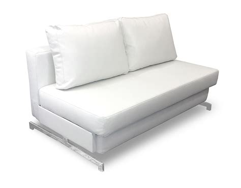 contemporary sleeper sofa bed white leather queen sleeper sofa impressive white leather