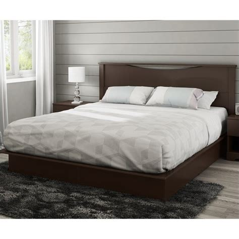 king platform bed with upholstered headboard south shore step one king platform bed with headboard and