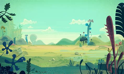 Cartoon Backgrounds On Behance  Color Pinterest