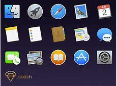 Apple OS X Yosemite Icons Sketch freebie Download free