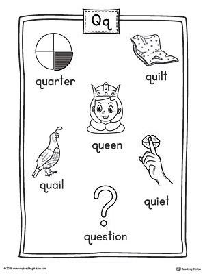 4 letter words that begin with q letter q word list with illustrations printable poster 20137 | 4f341558ab13a5397c9fcead85a2e3c1