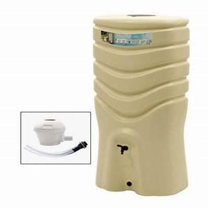 Recuperateur De Chaleur Brico Depot : r cup rateur d 39 eau 350l beige collecteur castorama ~ Dailycaller-alerts.com Idées de Décoration