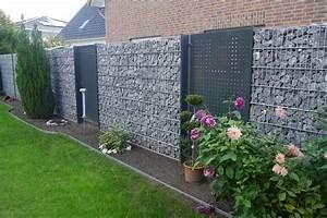 Gabionen Sichtschutz Terrasse : gabionen haus zaun garten sichtschutz garten und ~ A.2002-acura-tl-radio.info Haus und Dekorationen