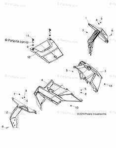 Polaris Side By Side 2016 Oem Parts Diagram For Body  Hood