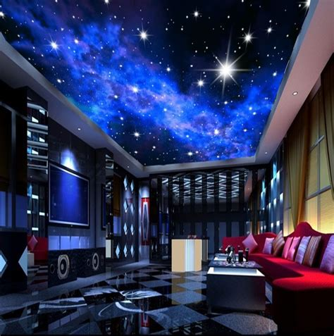 3d Galaxy Wallpaper For Ceiling by Murals 3d Nebula Sky Wall Painting Ceiling