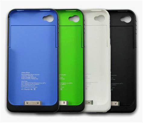 iphone 4s charging case 1900mah extra power extend battery back cover case backup Iphon