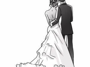 Dessin Couple Mariage Noir Et Blanc : mariage autre pinterest dessins de personnages ~ Melissatoandfro.com Idées de Décoration