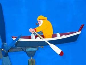 Hand Crafted Row Boat Whirligig by Whirligigs Hand Crafted