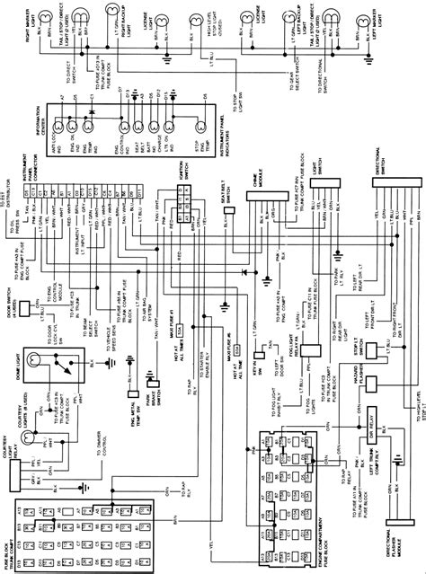 1994 Cadillac Wire Diagram by Wiring Schematics For Dash In A 1992 Cadillac Sts