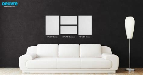 "Canvas Photo Wall Layout Using Two 16"" X 24"" And Two 10"" X"