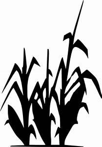 Corn Plant Silhouette Clip Art at Clker.com - vector clip ...