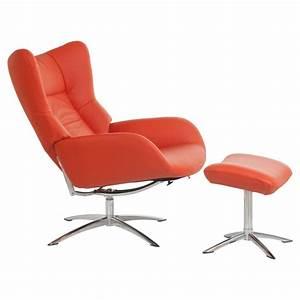 Fauteuil Repose Pied : fauteuil design vintage avec repose pieds stockholm fauteuil relax ~ Teatrodelosmanantiales.com Idées de Décoration