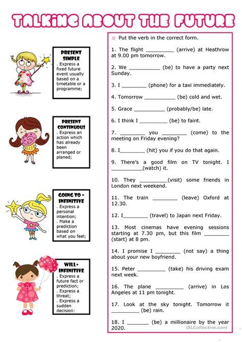 Future Forms Worksheet  Free Esl Printable Worksheets Made By Teachers