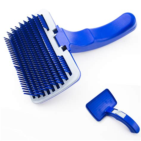 cat shedding comb pet cat grooming self cleaning slicker brush comb