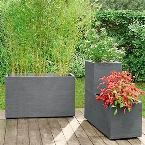 Jardiniere Plastique Gros Volume : jardini re graphit r sine l99 5 h43 cm anthracite ~ Dailycaller-alerts.com Idées de Décoration