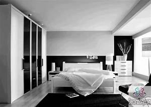 35 affordable black and white bedroom ideas bedroom With kitchen colors with white cabinets with wall stickers for bedrooms girl