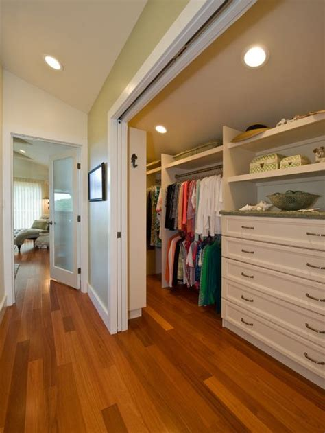 houzz narrow walk in closet design ideas remodel pictures