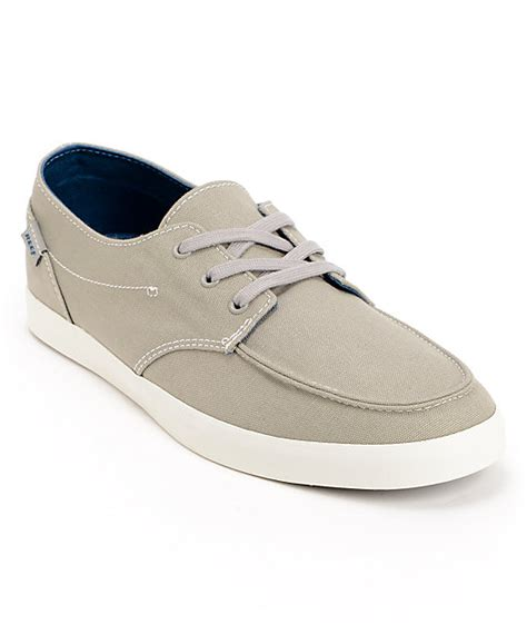 reef deck hand 2 light grey boat shoes zumiez