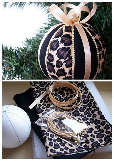 leopard kostüm selber machen ornament kit leopard stripes kimekomi
