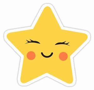 """Cute kawaii star sticker"" Stickers by MheaDesign Redbubble"