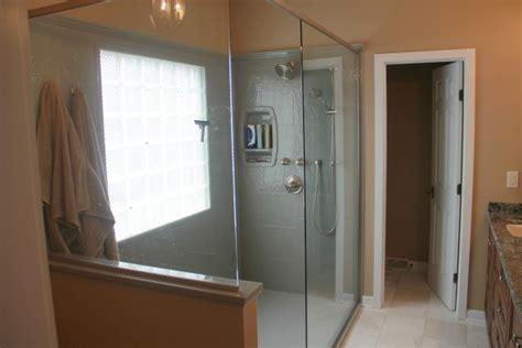 project   month master bath   doorless walk