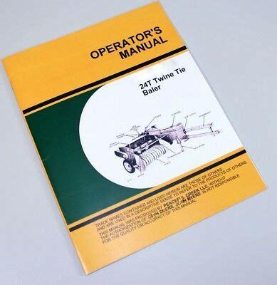 operators service manual  john deere  baler twine