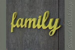 family sign diy wedding decoration wall hanging cottage With family letter sign