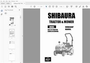 Shibaura Sx21 Sx24 Tractor Complete Workshop Service