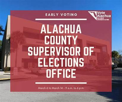 Election Presidential Voting Early County Alachua Tomorrow