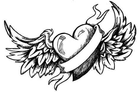 cool drawing designs with wings drawings clipart best