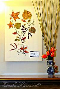 Zensible mama diy fall leaf and tree branch d wall art