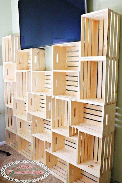 create  diy yarn storage shelving unit