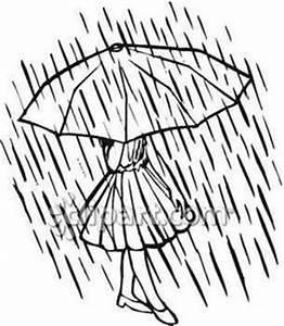 Girl Under Umbrella Clipart (93+)