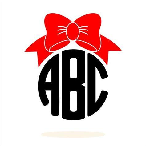 bow monogram svg bow svg monogram svg preppy monogram commercial  cricut files