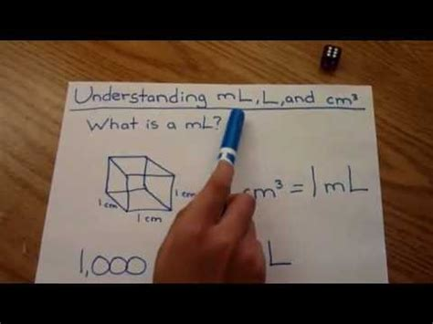 liters to centimeters cubed understanding ml mililiter liter cubic centimeter easy