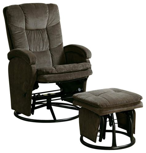 coaster recliners with ottomans reclining glider in